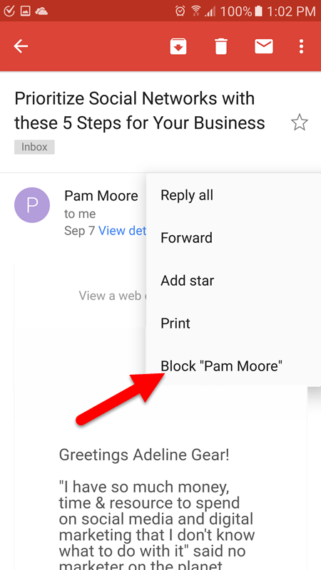 Gmail Spam Settings >> How to Block Email Addresses in Gmail (Web and Android ...