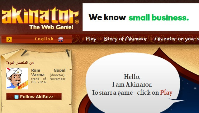 akinator-cool websites to kill boredom and pass the time