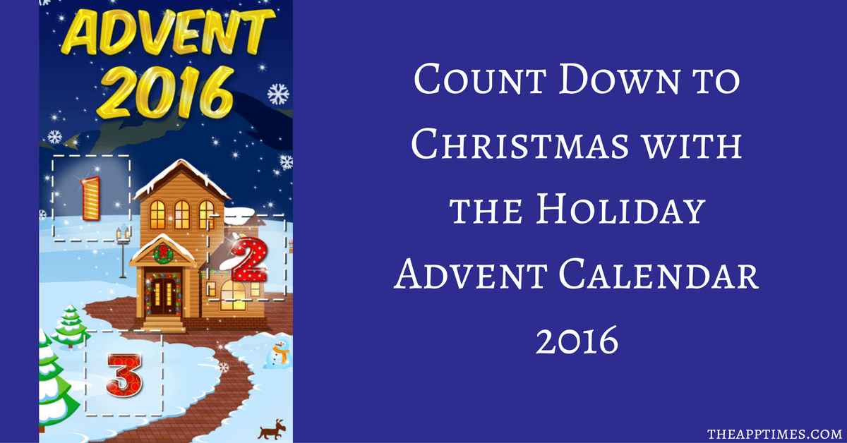 Christmas Calendar 2016 : Holiday advent calendar count down to christmas