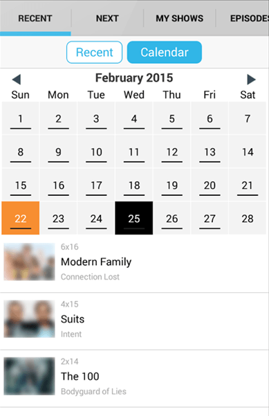 Episode Calendar.Next Episode App Review Track Tv Shows And Movies Theapptimes