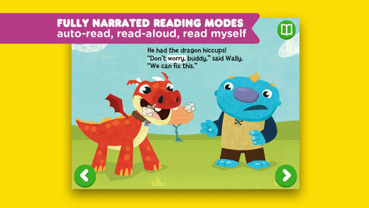 Nick Jr. Books Reading modes