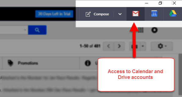 Other Gmail accounts in Shift