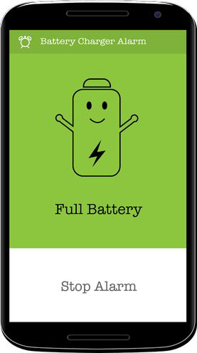 Battery Charger Alarm Stop screen
