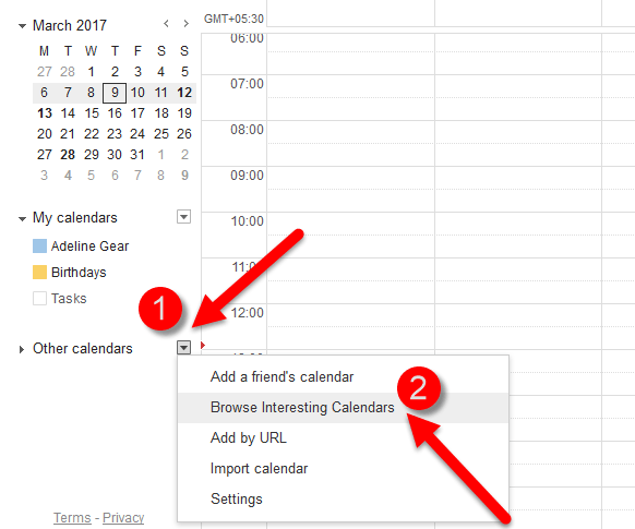 Browse Interesting Calendars