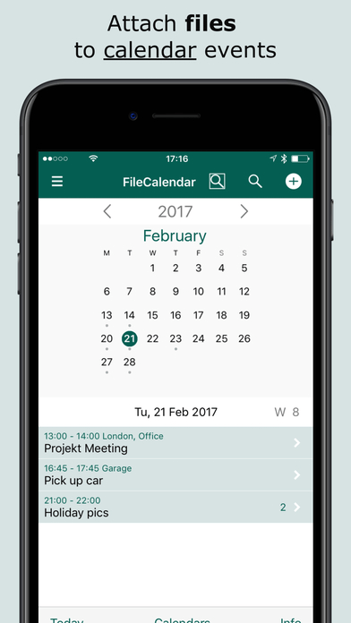 FileCalendar File Attachments