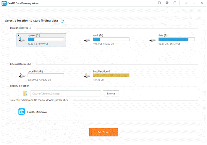 EaseUS Data Recovery Wizard Home