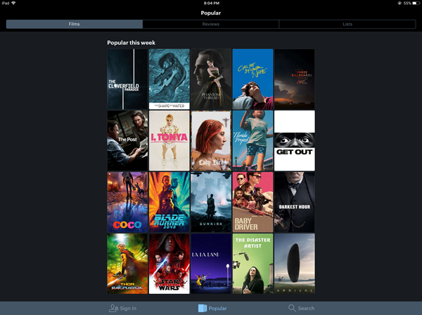 Letterboxd - Popular this week