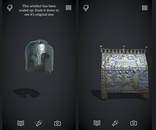 Civilisations AR App Review - Artifacts