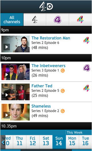 4oD - The Best TV and Film Apps for your Wi-Fi Devices