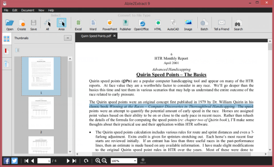 how to extract words from pdf