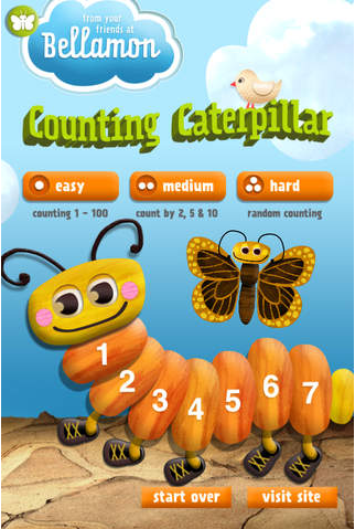 Counting Caterpillar - Amazing Math Apps