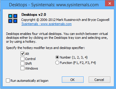 virtual desktop managers from Sysinternals