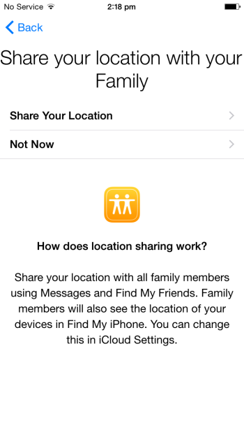 Family Sharing - Location