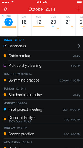 Fantastical 2 for iPhone - Productivity Apps with iOS Widget Support