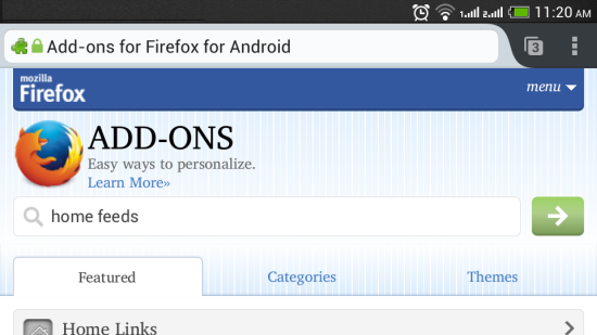Firefox add ons