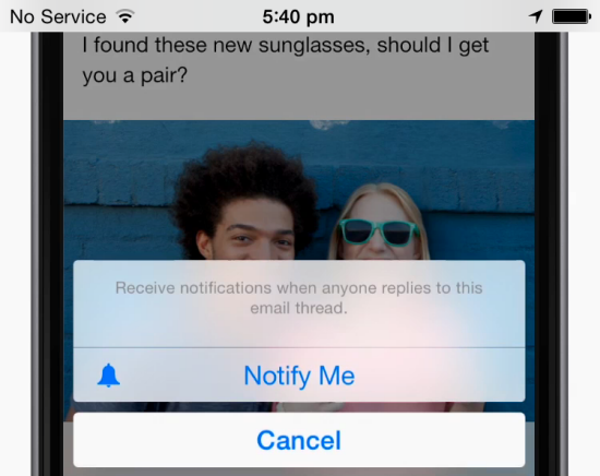 iOS 8 tips - Get Notified of Replies
