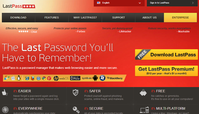LastPass - Best Password Managers
