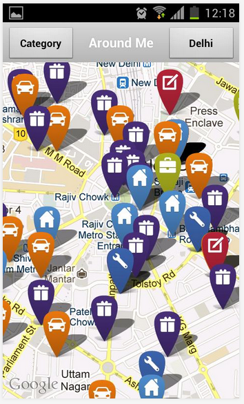 embedded maps in OLX Free Classifieds