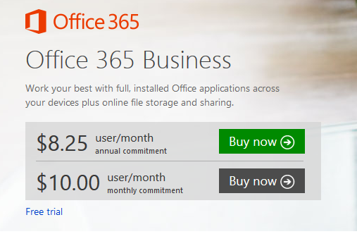 Office 365 Business - Office 365 Packages