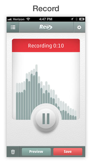 Rev Voice Recorder app