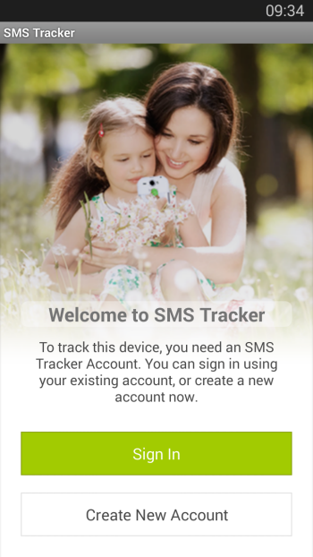SMS-Tracker-Home-screen