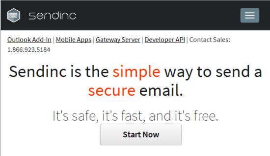 Secure Email Software Tools  - sendinc