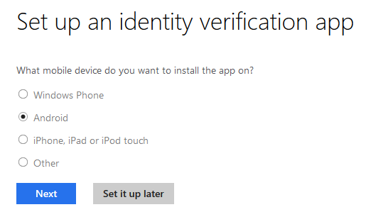 Set up an identity verification app