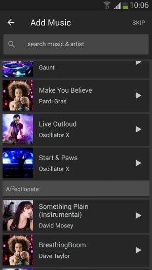 how to create music app for android