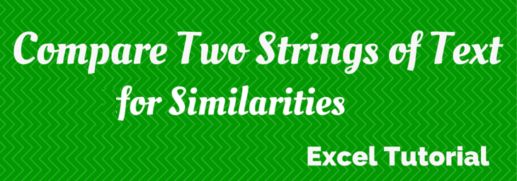 excel compare strings of text