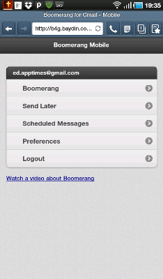 Get Boomerang Mobile to Schedule Gmail Messages on Your SmartPhone
