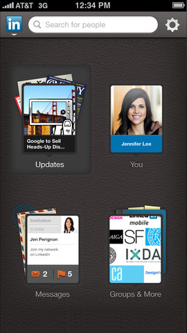 access linkedin on the go  - on ios