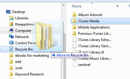 Move iTunes folder to Another Location