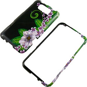 Green Flower Protector Case for HTC Titan