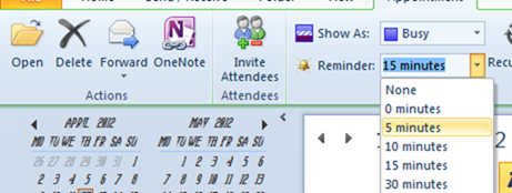 Create a Reminder for Appointments