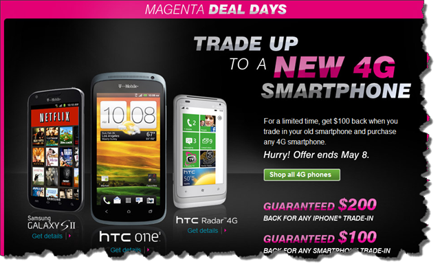htc one S  trade in offer