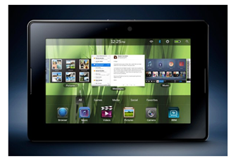 blackberry playbook - Top Competitors for iPad and Kindle in 2012
