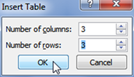 Insert a Table in Microsoft Powerpoint