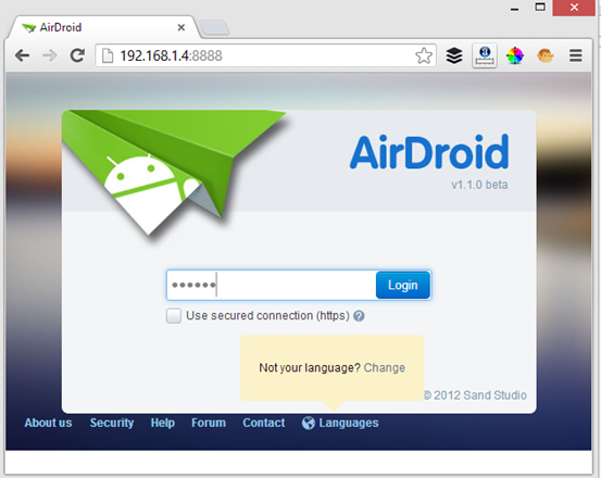 airdroid on chrome browser - Wirelessly Transfer Files to your PC