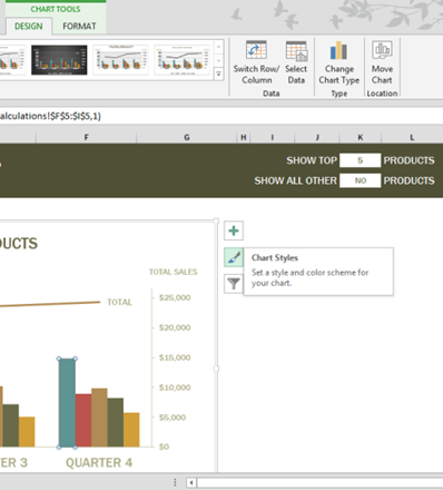 Excel 2013 New Features - Chart Buttons