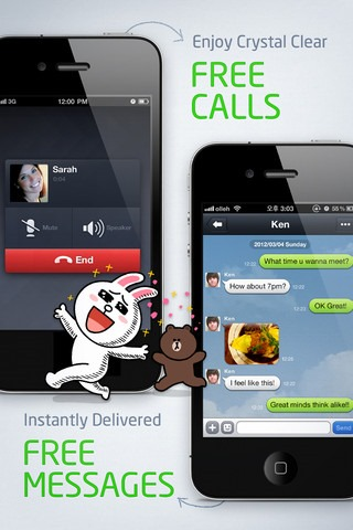 LINE for iOS and Android; Review