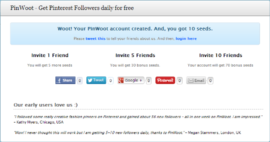 PinWoot : Snag More Followers on Pinterest and Build your Social Network