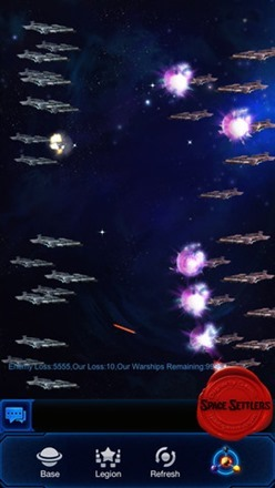Space Settlers battles