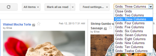 Read Your Google Reader Feeds in Grid Style (Like Pinterest)