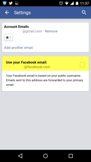 disable-facebook-email-on-android