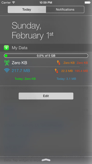 my data widget