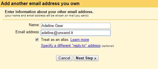 add another email address