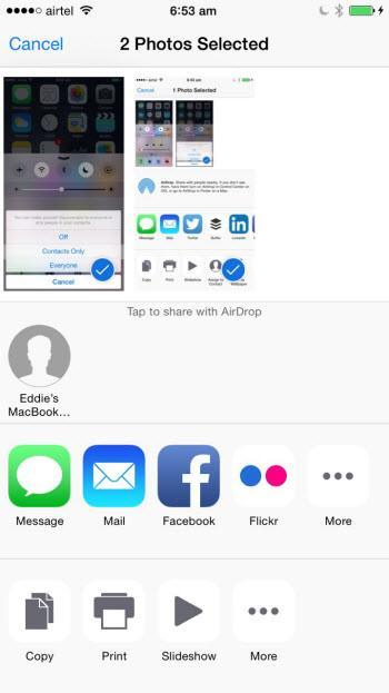 airdrop to devices
