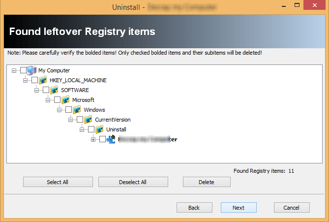 cleaning crapware leftover after uninstallation