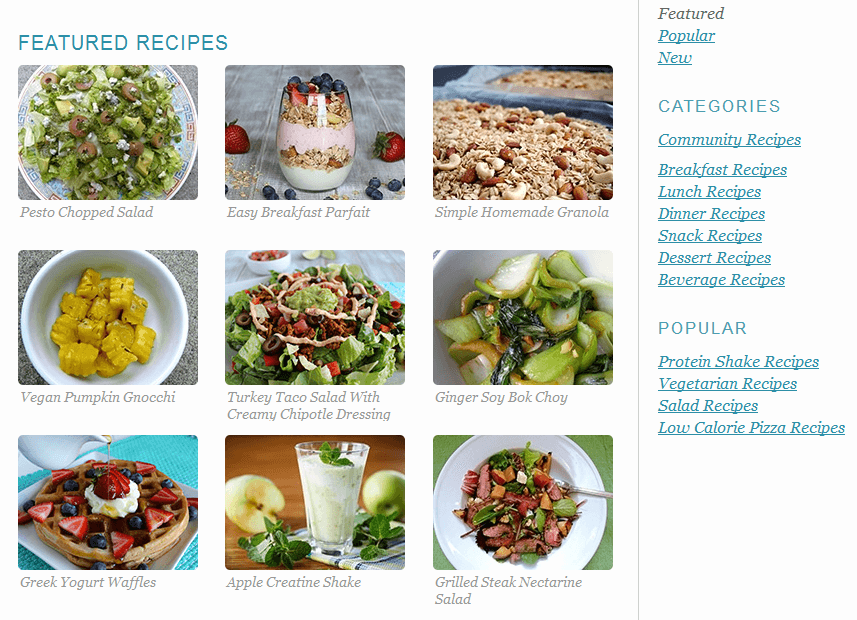 foodcount featured recipes