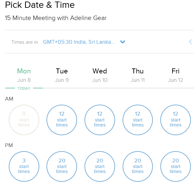calendly date and time
